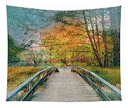 Walk To The Lake In Watercolors Tapestry