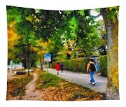 Walking On A Beautiful Path Tapestry