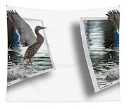 Walking On Water - Gently Cross Your Eyes And Focus On The Middle Image Tapestry