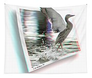 Walking On Water - Use Red-cyan 3d Glasses Tapestry