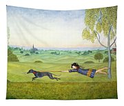 Walking The Dog  Tapestry