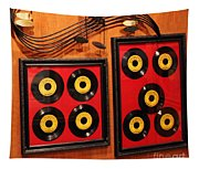 Wall Of Records Tapestry
