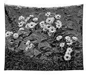 Wallflower Ain't So Bad Bw Tapestry