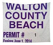 Walton County Beach Permit Tapestry