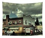 Walt's Diner - Vintage Postcard Tapestry