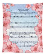 Waltz Of The Flowers Dancing Pink Tapestry