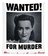 Housewife Wanted For Murder - Ww2 Tapestry
