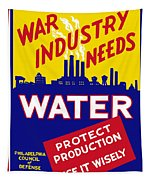 War Industry Needs Water - Wpa Tapestry