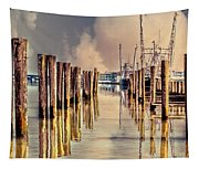 Warm Reflections In The Marina Tapestry