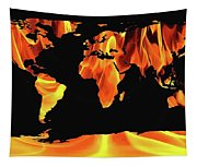 Warming World Map Tapestry