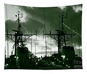 Warships At Twilight Tapestry