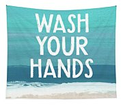 Wash Your Hands- Beach Art By Linda Woods Tapestry