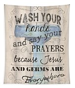 Wash Your Hands Tapestry