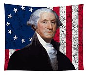 Washington And The American Flag Tapestry
