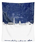 Washington Dc Skyline Map 4 Tapestry