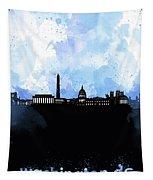 Washington Dc Skyline Minimalism 8 Tapestry