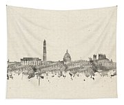 Washington Dc Skyline Music Notes 2 Tapestry