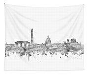 Washington Dc Skyline Music Notes Tapestry