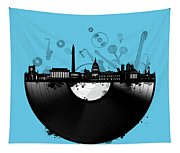 Washington Dc Skyline Vinyl 2 Tapestry