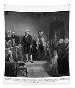 Washington Delivering His Inaugural Address Tapestry by War Is Hell Store