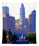 Washington Looking Over To City Hall Tapestry