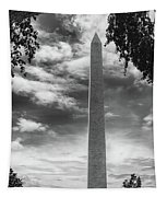 Washington Monument Black And White Tapestry