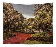 Washington Square In Mobile Alabama Painted Tapestry