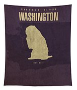 Washington State Facts Minimalist Movie Poster Art Tapestry