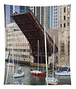Washington Street Bridge Lift Chicago Tapestry