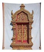 Wat Buppharam Phra Wihan Window Dthcm1582 Tapestry