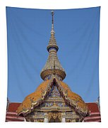 Wat Chaimongkron Phra Wihan Gable And Spire Dthcb0090 Tapestry