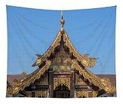 Wat Jed Yod Gable Of The Vihara Of The 700 Years Image Dthcm0963 Tapestry