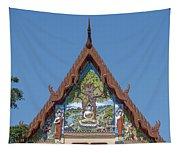 Wat Pho Samphan Phra Ubosot Gable Dthcb0066 Tapestry