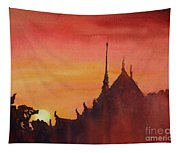 Wat Silhouette Tapestry