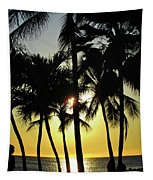 Watching The Hawaiian Sunset  Tapestry