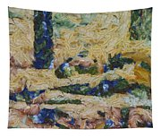 Water And River Delta  Tapestry