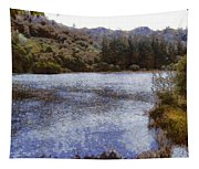 Water Body Surrounded By Greenery Tapestry