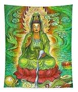 Water Dragon Kuan Yin Tapestry
