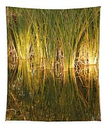 Water Grass In Sunset Tapestry