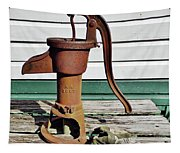 Water Hand Pump Tapestry