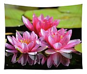 Water Lilly Triplets Tapestry
