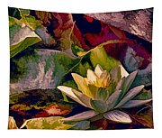 Water Lily In Living Color Tapestry