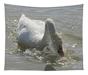 Water Off A Swan's Back Tapestry