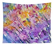 Watercolor - Abstract Flower Garden Tapestry