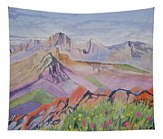 Watercolor - Blanca And Ellingwood Landscape Tapestry
