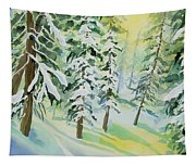 Watercolor - Colorado Winter Tranquility Tapestry