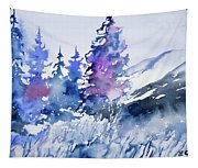 Watercolor - Colorado Winter Wonderland Tapestry