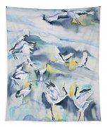 Watercolor - Crane Ballet Tapestry