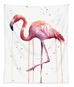 Watercolor Flamingo Tapestry