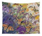 Watercolor- Monarchs In Flight Tapestry